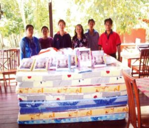 2004 Mattresses and bed sheets given to villagers for Homestay program