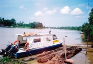 2009 one speed boat give to Villagers for Homestay program